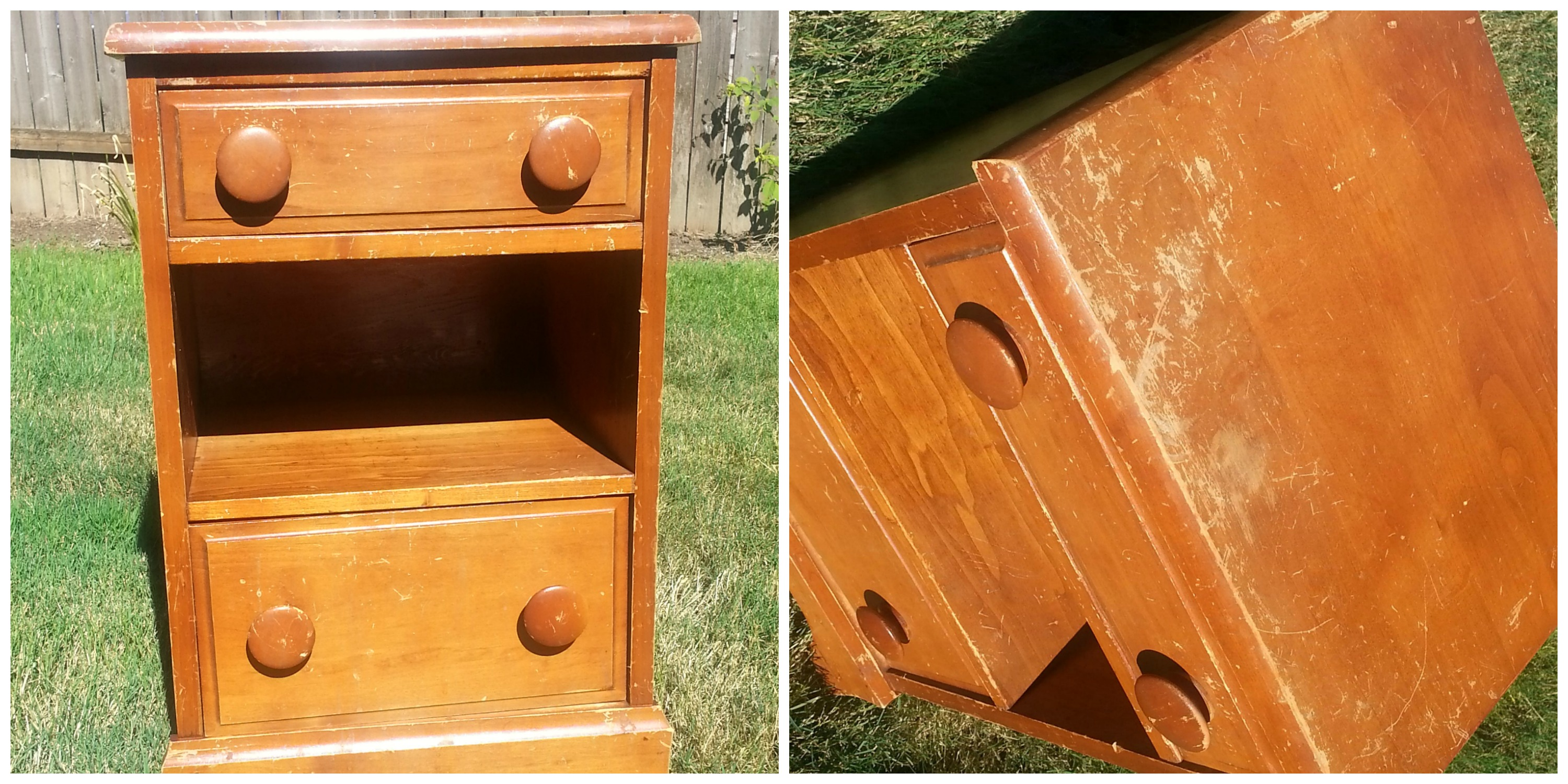 .99 cent Night stand makeover
